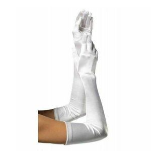 NWT Leg Avenue Extra Long White Satin Gloves